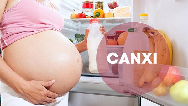 Trong suốt thai kỳ, nhu cầu canxi tăng lên
